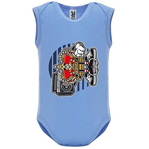 Body bébé - Manche sans - Street King - Bébé Garçon - Bleu - 18MOIS