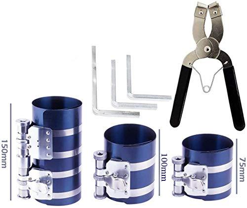 piston ring compressor tool Service Set,Car Engine Piston Ring Compressor Tool & Piston Ring Pliers with Adjustable Safety Screws