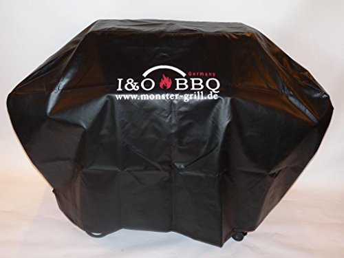 I&O BBQ ® Wetterschutzhaube, Abdeckhaube aus LKW-Plane 4S oder Grills bis 180cm m. Logo