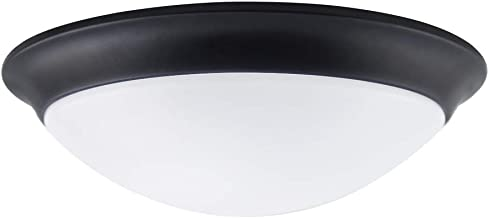 NOVELUX LED Flush Mount Light Fixture 11Inch 18W(120W Equivalent) 1200lm Dimmable Dome Lamp 3000K Warm White Indoor Light Oil Rubbed Bronze Finish Hallway Bedroom Fixtures Bathroom Stairwell