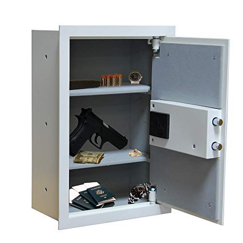 BUYaSafe WES2113-DF Fire Resistant Electronic Wall Safe for 8' Deep or Deeper Walls