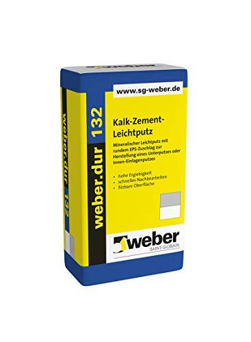 Weber.dur 132 Kalk-Zement-Leichtputz 30 kg Leichtputz Kalkzementleichtputz Kalkzementputz Putz Leichtputz 30kg