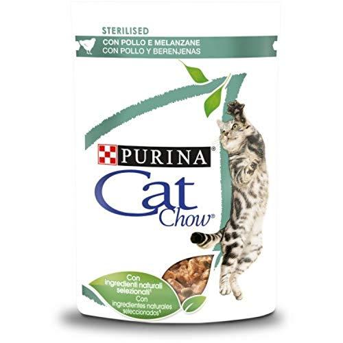Nestlé Purina Cat Chow Comida húmeda para Gatos Esterilizado con Pollo 85 g - Pack de 24