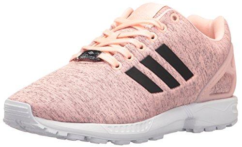 adidas Originals Women's Shoes | ZX Flux Fashion Sneakers, Haze Coral Black/White, (9 M US)