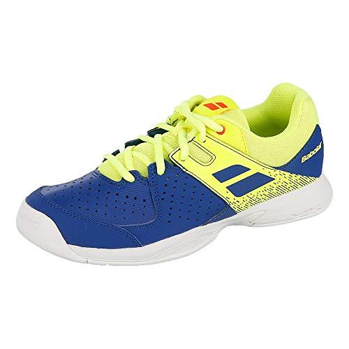 Babolat Pulsion Indoor JR Tennisschuhe, Blue/Fluo Aero, 36 EU