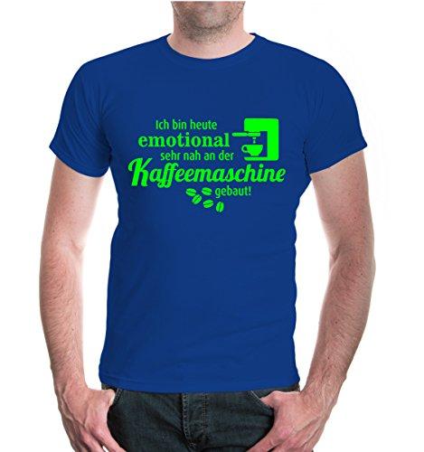"""buXsbaum® Męski T-shirt unisex z krótkim rękawem z nadrukiem """"Ich Bin Heute emotional bardzo blisko do ekspresu do kawy   powiedzonka śmieszna koszulka"""