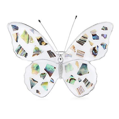 GLKHM Cráneo Broche Broche Esmaltado Mariposa Insectos Broche