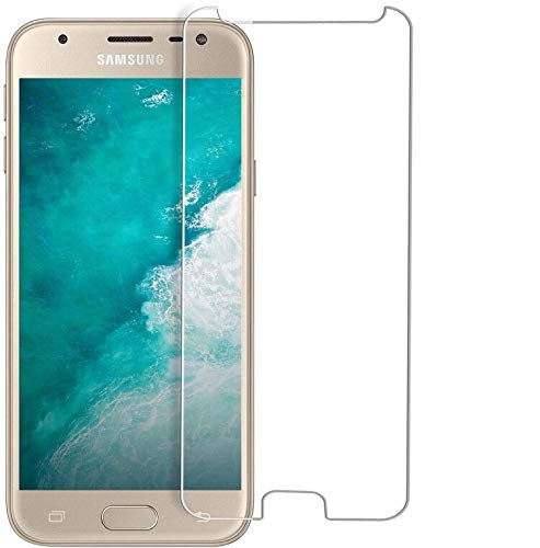 Bigmeda Panzerglas für Samsung Galaxy J3 2017, Schutzfolie für Samsung J3 2017 Panzerglasfolie Gehärtetem 9H Härte Ultra Clear Glas Hartglas Folie Displayschutzfolie für Galaxy J3 2017 - 2 Stück