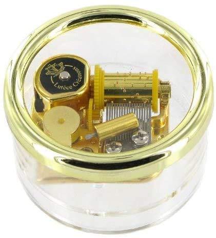 Lutèce Créations Briefbeschwerer-Spieluhr/Spieldose/Musikbox aus Acrylglas mit traditionellem 18-Ton-Spielwerk - Der Nussknacker - Marsch (P. I. Tschaikowski)