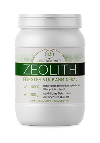 Zeolith 200g für 25 Tage • Zeolith-Klinoptilolith aus feinstem Vulkangestein ultrafein & aktiviert • Zeolith aus 100% reinen Mineralien