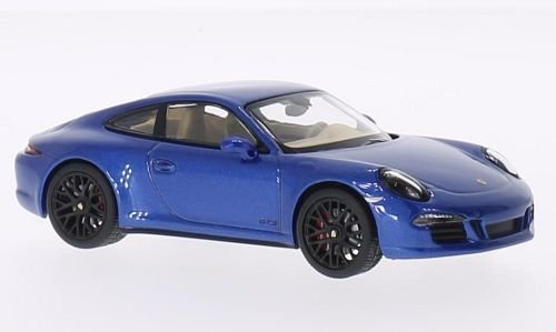 Porsche 911 (991) Carrera 4 GTS, metallic-blau, 2014, Modellauto, Fertigmodell, Schuco 1:43