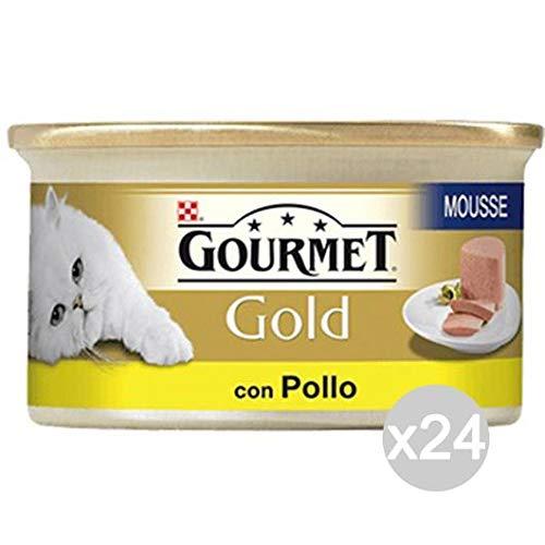 Purina Lot de 24 Poulets en Mousse Gourmet dorée délicate pour Chat, 85 g