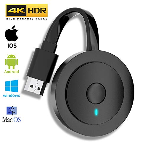 Wireless HDMI Display Dongle 4K HDR - MPIO Wifi HDMI Dongle Streaming für Android / iOS / Windows / Mac OS-Laptop, Telefon, Tablet, PC zu HDTV/Monitor/Projektor (Unterstützung Miracast, DLNA, Airplay)