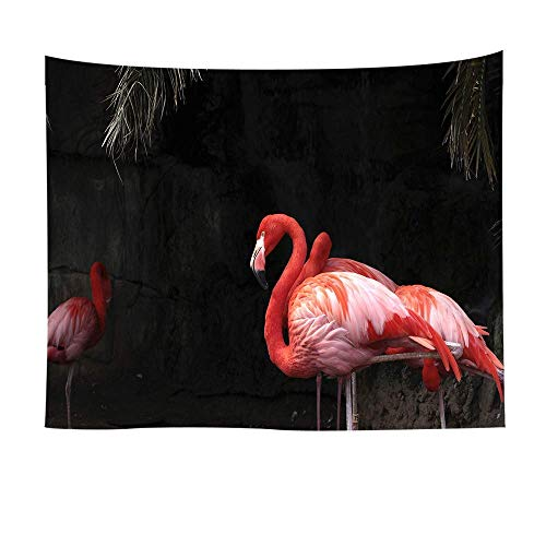 Tapisserie tentures murales Tapisserie série Monde Animal tenture Murale Noir Rouge Flamant Rose Impression 3D napperon Tapis de Yoga décoration de la