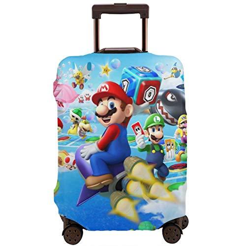 Funda para equipaje de viaje, color anime Game Super Mario, fundas protectoras con cremallera, lavables, para equipaje