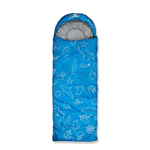 outdoorer Dream Express Kinderschlafsack Kinder-Schlafsack Dream Express Ocean - Kinder Deckenschlafsack aus Baumwolle im Meerestier-Design