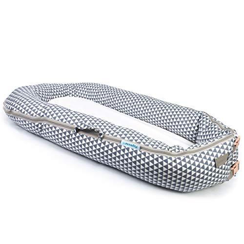 Imagen para Papoose - Saco de dormir para bebé suave y tierno, 0–8meses  grey triangle Talla:largo