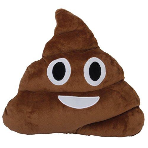 Bomien - Cuscino a forma di emoticon Emoji in peluche, morbido, con grande sorriso Smiley Toy Doll