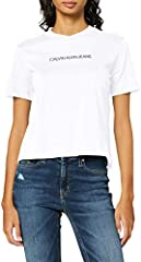 Calvin Klein Shrunken Institutional Logo tee Camiseta para Mujer