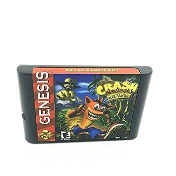 Royal Retro Crash Bandicoot For Sega Genesis & Mega Drive 16 Bit Video Games Conosle  Black
