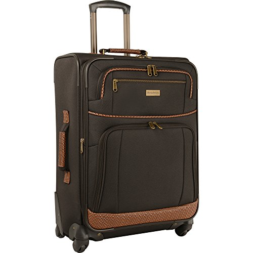 Tommy Bahama Lightweight Spinner Luggage - Expandable Suitcases for Men and Travel with Rolling Wheels, Dark Brown