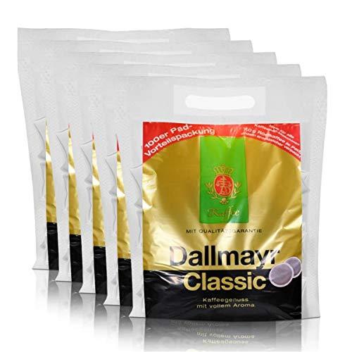 5x Dallmayr Kaffeepads Megabeutel Classic, 100 Pads, kräftig und würzig einzeln verpackt