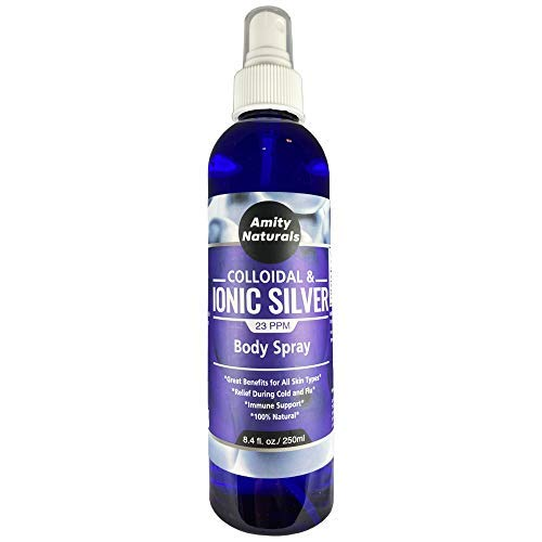 Silver Spray - Ionic and Colloidal Silver Mist Spray - Boost Immune System Improves Skin Health - Aids Wound Care & Recovery - Cleans air from irritants - All Natural Safe for Kids- 8fl oz 23 ppm