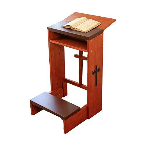 Gebetsbank Hocker Tisch Stuhl gepolstert Kniebank Regal klappbar Holz Kirche