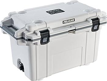 Pelican Elite 70 Quart Cooler  White/Gray