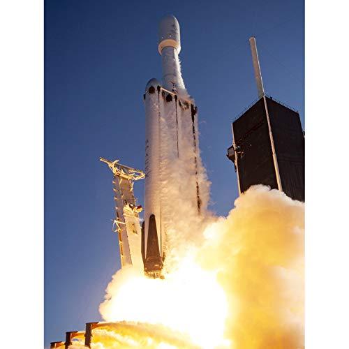 Space SpaceX Arabsat-6A Mission Rakete Launch Foto-Kunstdruck Leinwand Premium Wanddekoration Poster Wandbild