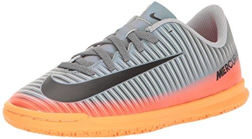 Nike Jr Mercurialx Vortex III Cr7 IC, Zapatillas de Fútbol Unisex Niños, Gris (Cool Grey/mtlc Hematite-Wolf Grey-Total), 38.5 EU