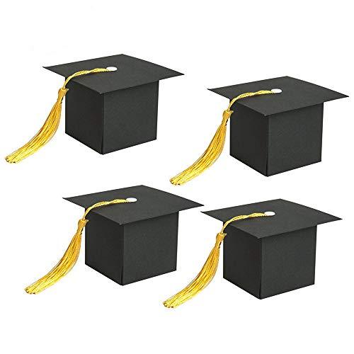 Writtian 10 Stück Doktorhut Deko Box Herzlichen Glückwunsch Graduation Cap Dekoration Bachelor Hut Geschenkbox Süßigkeit Schachtel 2020 Abi Abschlussfeier Deko
