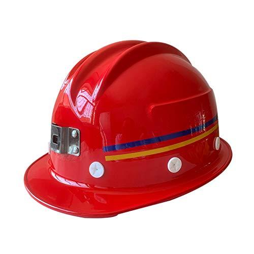 DYB Casco de Seguridad - FRP Casco de Seguridad subterráneo para mineros (Color : Red, Size : 2pcs)
