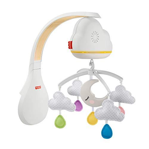 Fisher-Price GRP99 Traumhaftes Wolken-Mobile und Spieluhr mit Geräuschsensor zur automatischen Aktivierung, für Babys und Kleinkinder