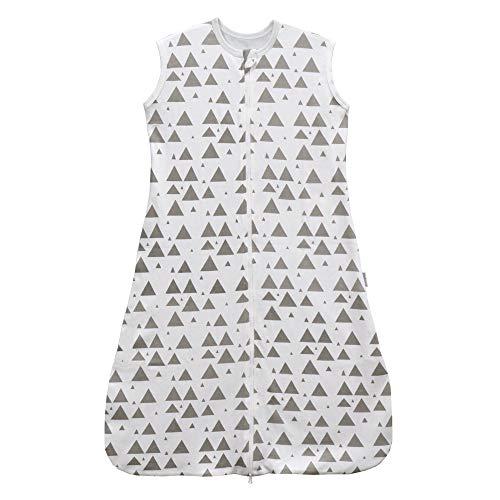 sommerschlafsack baby mädchen junge Frühling schlafanzug dünner neugeboren Weiß Grau Sterne schlafsack kinder sommer - 0.5 tog(130CM:4-6Jahre, Weiß Berg)