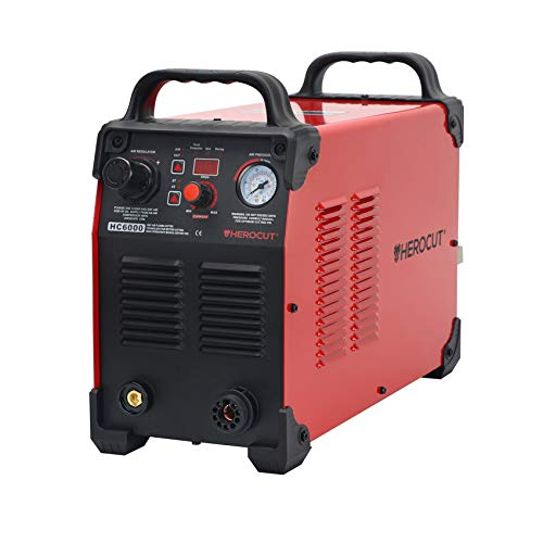 CNC Plasma Cutter, HeroCut HC6000 220v 60Amps Non-HF Blowback Pilot Arc Non-Touch Arc Starting Inverter 50/60Hz Clean Cut 3/4'', Easy Work With CNC table. (HC6000 220V)