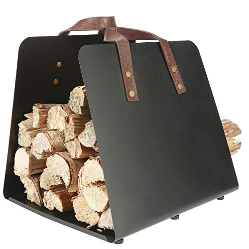 Clas Ohlson Steel Metal Firewood Log Carrier and Holder -35 x 110 x 28 cm,...