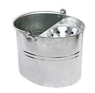 Cottam - Cubo para fregona (galvanizado, 11 L), color plateado