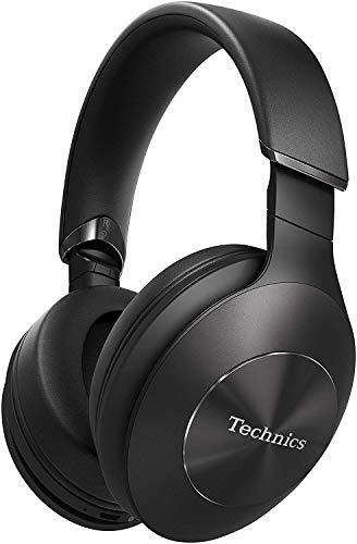 Technics EAH-F50B Cuffie a Padiglione Bluetooth Premium, Hi-Res Audio, Funzionamento Smart, Assistente Vocale, Pieghevoli, Nero