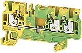Weidmüller 1521670000 A3C 2.5 PE - Terminal de cable de seguridad (50 unidades), color verde y amarillo