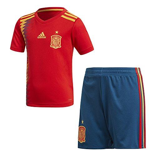 adidas Federación Española de Fútbol Conjunto, Unisex Niños, Rojo (Dorfue), 164-13/14 años
