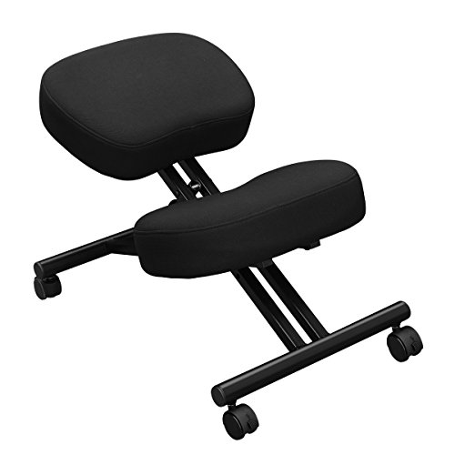 Ergonomic Kneeling Chair for Support, Office or Home – Ultra Soft Cushions, Sturdy Metal Rolling Frame