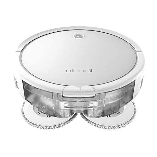 Bissell SpinWave Robot, 2 in 1, Aspira e Lava, 2931N, Bianco-Nero-Grigio