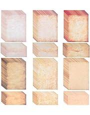 OFNMY ورق ومظاريف عتيقة، مجموعة أوراق قرطاسية كتابة مزدوجة الجانب - 60 ورقة من أوراق حروف كلاسيكية قديمة الطراز و60 ظرفًا للكتابة والطباعة، صياغة