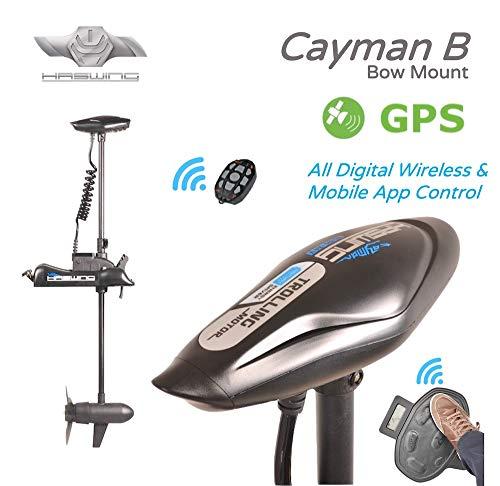 Haswing Cayman B, mit GPS, Bow Mount, elektrischer Außenbord-Schleppmotor. 2 Jahre Garantie, Basispaket