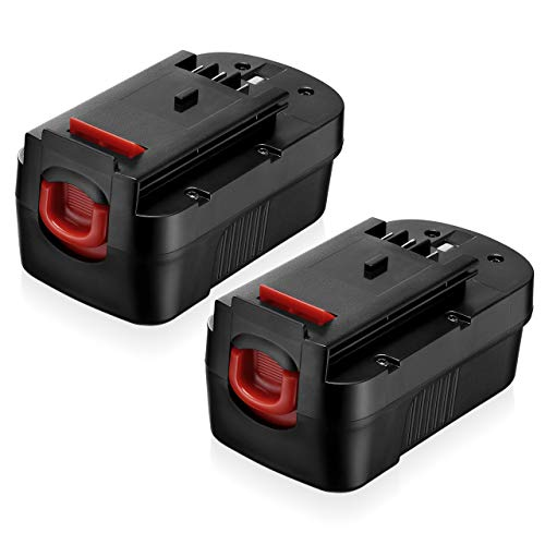 2 Pack 3.8Ah 18 Volt HPB18 Replacement Battery Compatible with Black and Decker 18V HPB18 HPB18-OPE 244760-00 A1718 FS18FL FSB18 Firestorm Black and Decker 18 Volt Battery