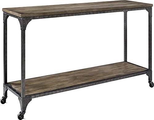 Ameriwood Home Cecil Wood Veneer Console Table, Rustic