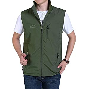 Men's Golf Lightweight Photo Vest Fishing Travel Safari Vest