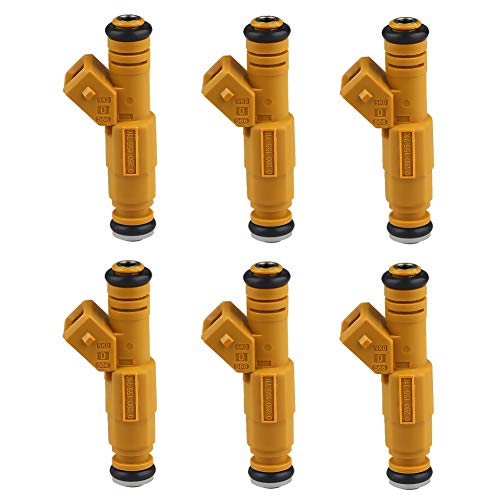 JDMON Compatible with Fuel Injector Jeep Cherokee Grand Cherokee 1987-1998 Wrangler Comanche 4.0L 0280155710 0280155700 6pcs