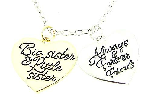 Ketting van vrouw - jongere - oudere zus - groot - vriendinnen - klein - kerstmis - altijd - goud - origineel cadeau-idee big sister little sister always and forever friends